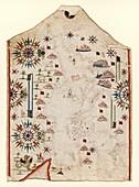Chart of the Mediterranean Sea, 16th century