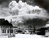 Atomic blast over Nagasaki, 1945