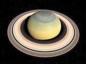 Saturn's north pole in winter, illustration