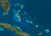 The Bahamas, satellite image