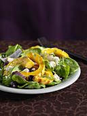 Squash Salad mit Fresh Baby Spinach