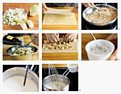 Birnen-Nuss-Strudel mit Vanilleschaum zubereiten