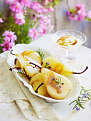 Rosemary and Honey Poached Pears