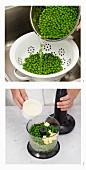 Erbsenpüree zubereiten