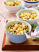 Carbonara Pasta Bake with Peas