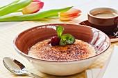 Catalan cream dessert