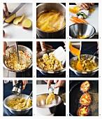Gemüseburger mit würzigen Kartoffelspalten zubereiten