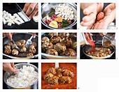 Lammhackbällchen mit Tomatensauce, Reis und Minze zubereiten