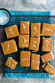 Millionaire shortbread with salted caramel