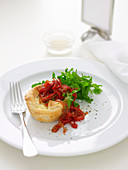 Egg and Cheese Tartlets with Capsicum Relish
