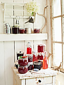 Homemade fruit juices, chutneys and jams