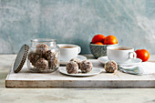 Chocolate and mandarin energy balls
