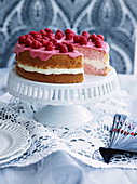 Raspberry Cranberry Chiffon Cake