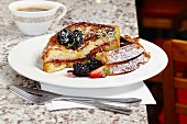 French toast with peanut butter and jam