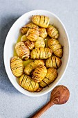 Hasselback potatoes with rosemary