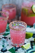 A grapefruit margarita