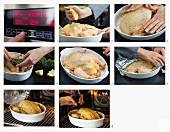 Niedrigtemperatur-Knoblauchhähnchen mit Zitrone zubereiten