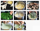 How to make parsley soup with bacon