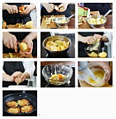 How to make potato fritters with apple sauce