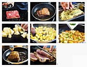 How to make roast beef with breadcrumb potatoes