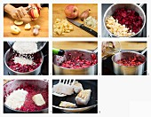 How to make beetroot risotto with fish
