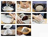 Schinken im Brotteig zubereiten