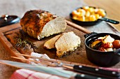 Roast pork with rosemary