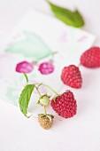 Fresh raspberries (close-up)