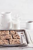 Carob oat and seed muesli bars