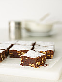 Small hazelnut brownies