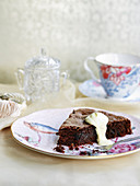 Chocolate, Prune and Almond Fudge Cake