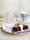 Chocolate, Prune and Almond Fudge Cake