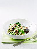 Udon Noodle Salad with Bok Choy and Shiitake