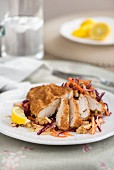 Wholemeal chicken with super-healthy slaw