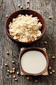 Okara (soy pulp) and soy milk