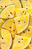 Pieces of yellow watermelon