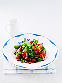 Roasted Capsicum, Tomato and Borlotti Bean Salad