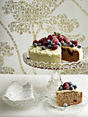 Mixed Berry, Hazelnut and White Chocolate Mud Cake