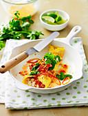 Gebratenes Reis-Omelett