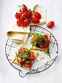 Tomaten-Rucola-Tartes
