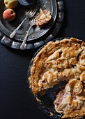 Rustic Carved Deep Dish Peach Pie