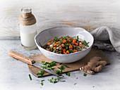 Vegan lentil and coconut curry
