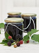 Blackberry jam with grape juice