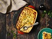 Potato bake with parsley