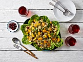 Quinoa salad with mandarin orange and dried cranberries
