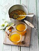Ananas-Konfitüre mit Kurkuma und Ingwer