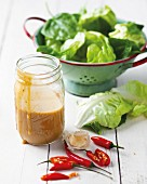 Peanut butter salad dressing