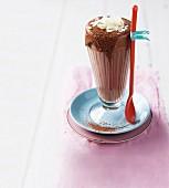 Sugar-free peanut butter milkshake