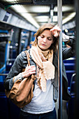 Woman on the subway