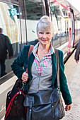 Woman on a station platform